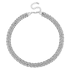 The Collection - Crystal embellished mesh necklace