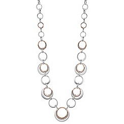 The Collection - Multi tone circle link necklace