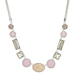 The Collection - Pink glitter crystal necklace
