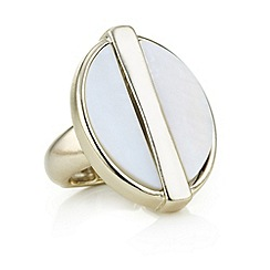 The Collection - Gold bar shell ring