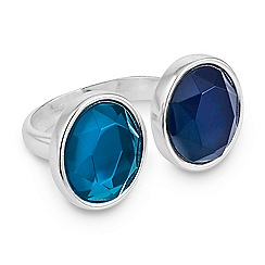 The Collection - Polished silver and mixed stone ring