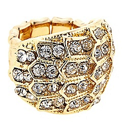 The Collection - Gold crystal cluster ring