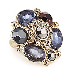The Collection - Gold stone cluster statement ring