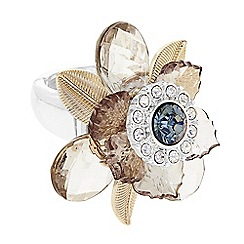 The Collection - Crystal flower ring