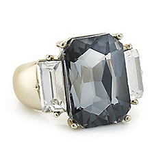 The Collection - Grey tonal crystal ring