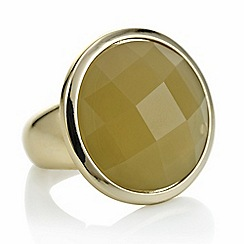The Collection - Gold crystal stone ring