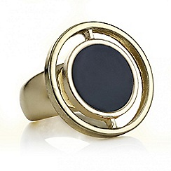 The Collection - Black multi circle ring