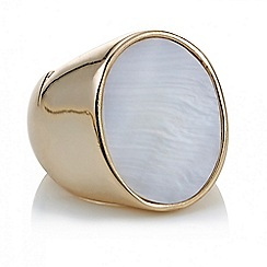 The Collection - Rose gold and pearl statement ring