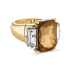 The Collection - Amber crystal statement ring