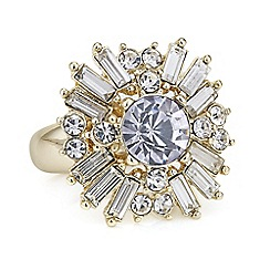 The Collection - Gold crystal starburst ring