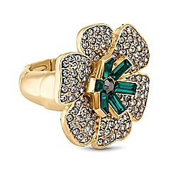 The Collection - Floral crystal ring