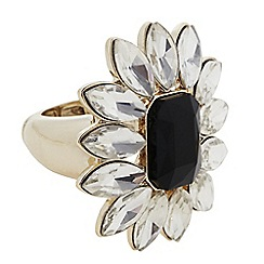 The Collection - Crystal floral statement ring