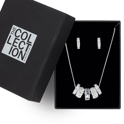 The Collection Great value crystal embellished disc