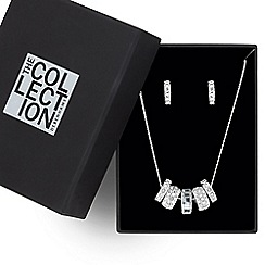 The Collection - Great value crystal embellished disc jewellery set