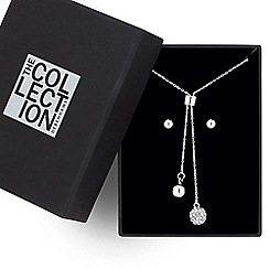 The Collection - Polished and crystal ball tassel drop jewellery set