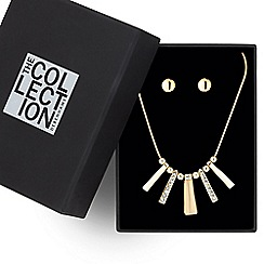 The Collection - Polished and crystal stick jewellery set