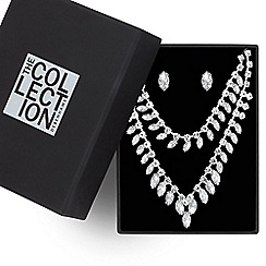 The Collection - Diamante crystal and navette stone jewellery set