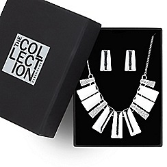 The Collection - Graduated polished and crystal panel jewellery set