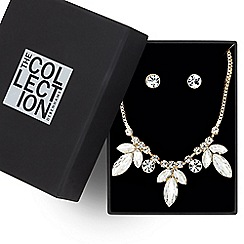 The Collection - Triple crystal peardrop jewellery set