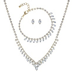 The Collection - Gold diamante crystal matching jewellery set