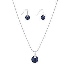 The Collection - Blue pearl jewellery set