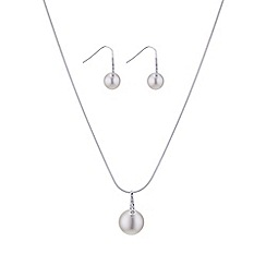 The Collection - Cream pave pearl pendant jewellery set