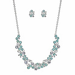 The Collection - Green crystal cluster jewellery set