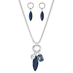 The Collection - Blue crystal droplet jewellery set