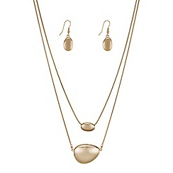 The Collection - Rose gold double row pebble jewellery set