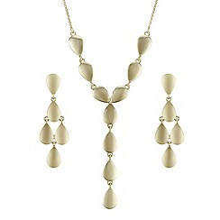 The Collection - Gold organic droplet jewellery set