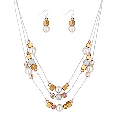 The Collection - Pearl and bead multi row jewellery set