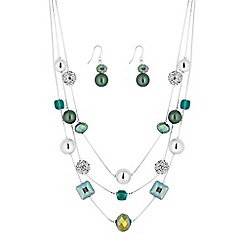 The Collection - Green bead and crystal jewellery set