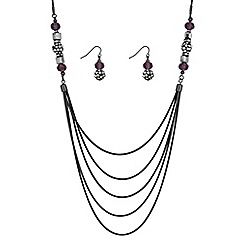 The Collection - Multi row crystal bead jewellery set