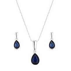 The Collection - Crystal peardrop jewellery set