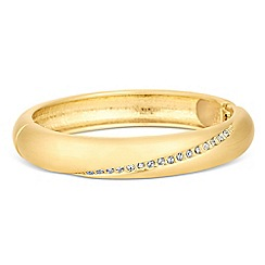 The Collection - Gold matt crystal stripe bangle