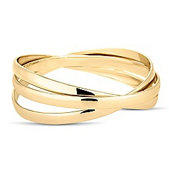 The Collection - Set of three intertwined gold bangles