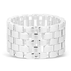 The Collection - Statement polished square stretch bracelet