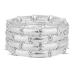 The Collection - Textured crystal bar stretch bracelet