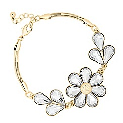 The Collection - Gold crystal flower link bracelet