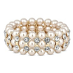 The Collection - Blush pearl and crystal bar stretch bracelet