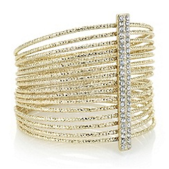 The Collection - Gold multi row crystal bangle