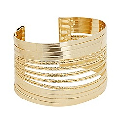 The Collection - Gold textured cuff bracelet