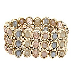 The Collection - Pastel bead circle stretch bracelet