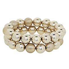 The Collection - Gold ball cluster stretch bracelet