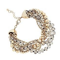 The Collection - Beaded plait multi row bracelet