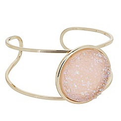 The Collection - Druzy stone polished gold bangle