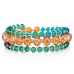 The Collection - Graduated beaded coil bracelet
