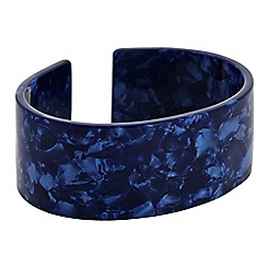The Collection - Blue marble effect crossover bangle