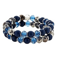 The Collection - Blue beaded stretch bracelet pack