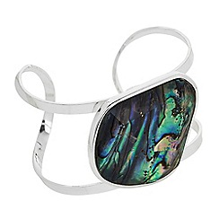 The Collection - Abalone inspired open bangle bracelet